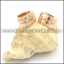 Classic and Simple Stainless Steel Earrings      e000180