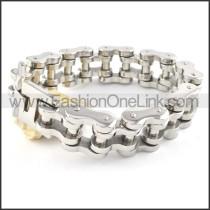Exquisite Silver Biker Bracelet b000358