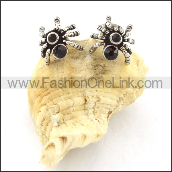 Lovely Stainless Steel Spider Earrings    e000413