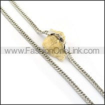 Fashion Silver Stamping  Necklace n000596