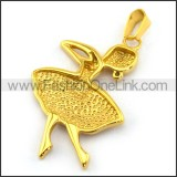 Delicate Stainless Steel Plating Pendant   p003385