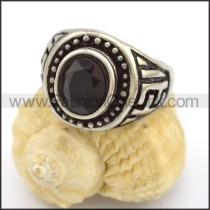 Vintage Stone Stainless Steel Ring r002690