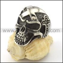 Stainless Steel Skull Ring r001128