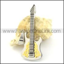Lovely Guitar Stainless Steel Pendant p000970