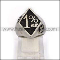 Stainless Steel 1%  Ring     r003078