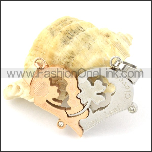 Exquisite Stainless Steel Couple Pendant  p000957