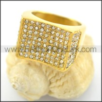 Exquisite Stone Stainless Steel Ring r001623