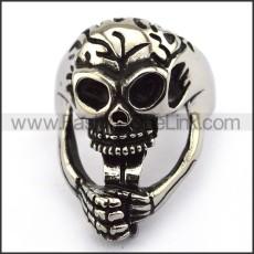 Stainless Steel Skull Ring  r003689