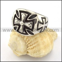 Stainless Steel Cross Ring r000521