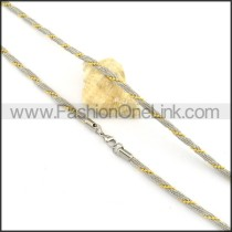 Two Tone Twisted Rope Necklace n000141
