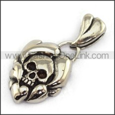 Exquisite Stainless Steel Skull Pendant   p003712