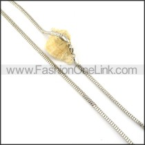 Good Quality Interlocking Stamping Necklace    n000341