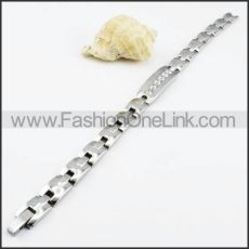 Watch Strap Casting Bracelet with Clear Stone b000068