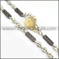 Good Quality Two Tone Plated Necklace      n000183
