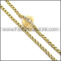 Two Tone Plated Necklace n000797