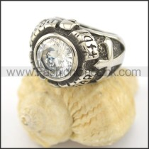 Vintage Clear Stone Ring r001646