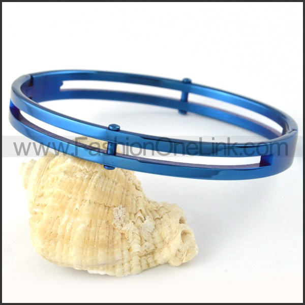Elegant Blue Plated Couple Bangle b000395