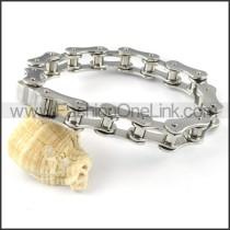 Exquisite Stainless Steel Biker Bracelet b000569