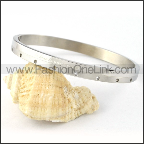 Silver Small Round Holes Couple Bangle b000429