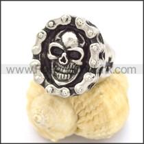 Delicate Stainless Steel Skull Ring r002252