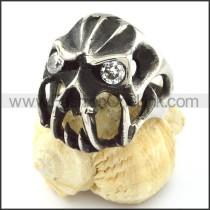 Stainless Steel Skull Ring  r000745