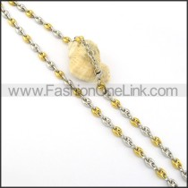 Delicate Two Tone Plated Necklace    n000312