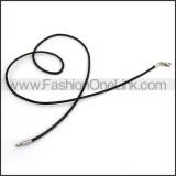 Black Rubber Necklace n001182