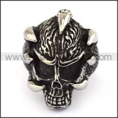 Stainless Steel Skull Ring  r003688