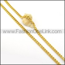 Golden Succinct Plated Necklace    n000261
