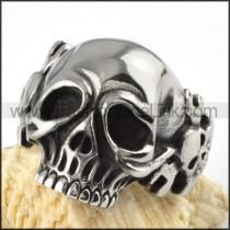 Spanner Skull Stainless Steel Ring r000093
