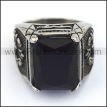 Exquisite Vintage Staninless Steel Stone Ring  r003453