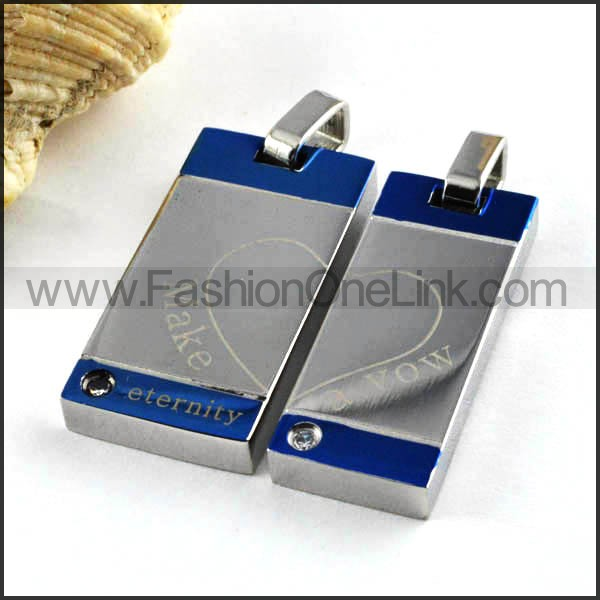 Exquisite Stainless Steel Couple Pendants p000082