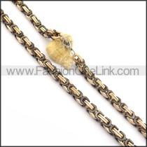Vintage Black and Golden Plated Necklace n000816