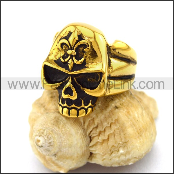 Stainless Steel Skull Ring   r003243