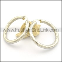 Delicate Silver Hoop Earrings   e000995