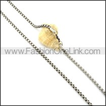 Silver Interlocking Stamping Necklace    n000337