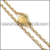 Graceful Two Tone Plated Necklace n000718
