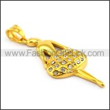 Delicate Stainless Steel Plating Pendant    p003383