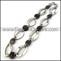 Chic Stainless Steel Plated Necklace n000922