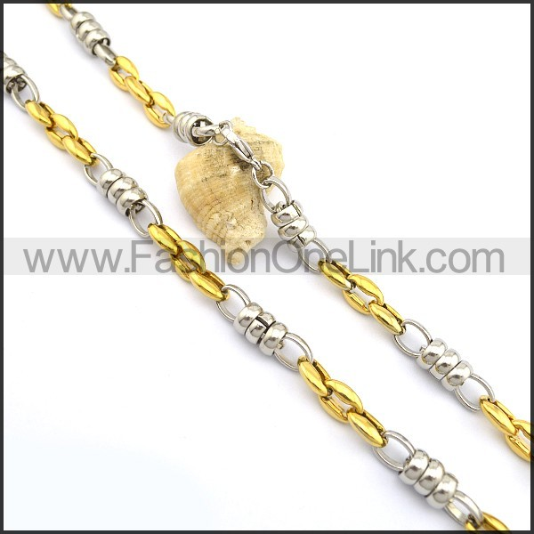 High Quality Gold and Silver Plated Necklace n000778
