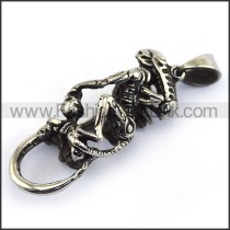 Delicate Stainless Steel Casting Pendant    p003510