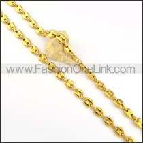 Good Quality Golden Plated Necklace      n000187