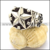 Delicate Pentacle Stainless Steel Ring  r002317