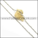 Twisted Steel Silver Small Chain n000938