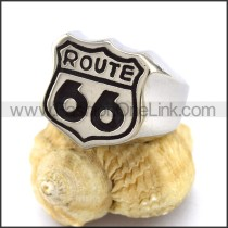 Sixty-six Stainless Steel Biker Ring  r003332