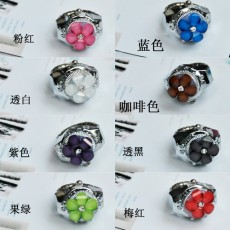 Silver Jelly Stone Flower Ring Watch PW000019