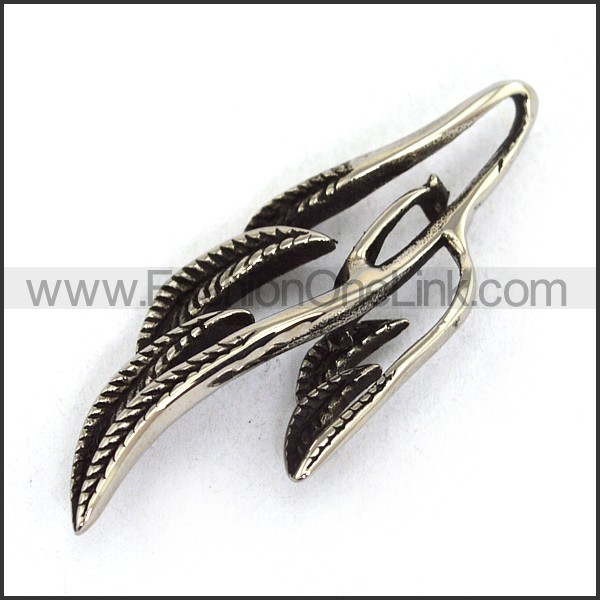 Delicate Stainless Steel Casting Pendant   p003673