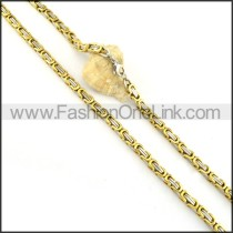 Succinct Golden  Necklace   n000159