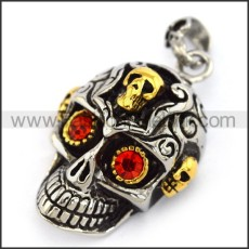 Exquisite Stainless Steel Skull Pendant  p004063