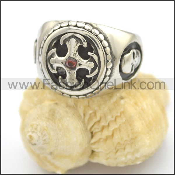Delicate Cross Stainless Steel Ring  r002406